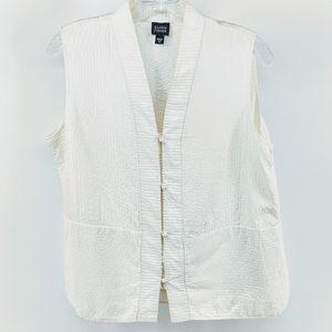 Eileen Fisher Silk Mandarin Sleeveless Vest